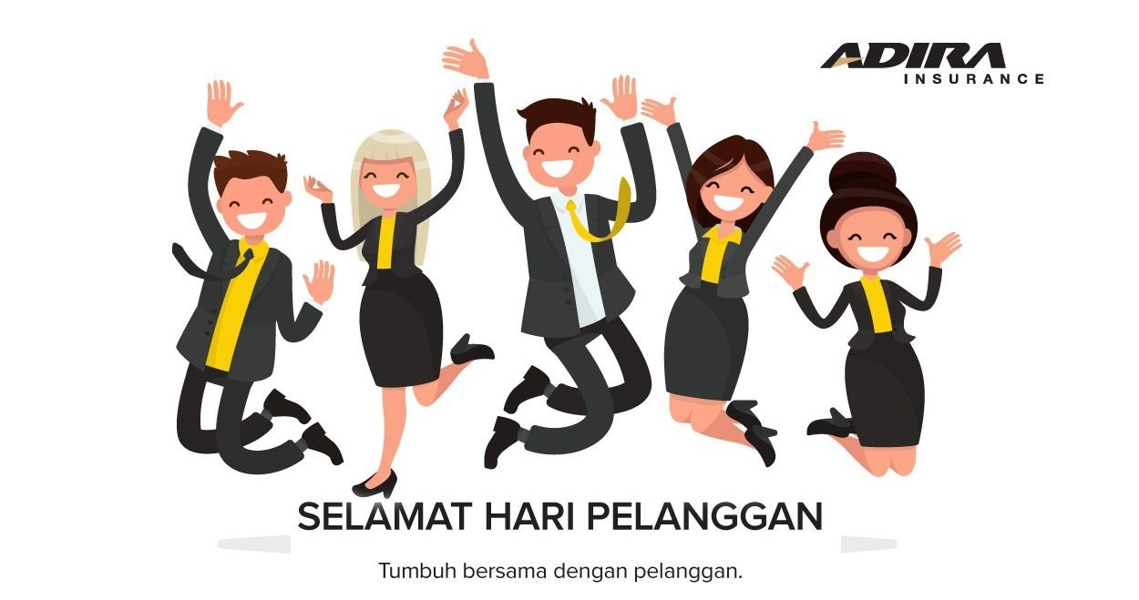 Adira Insurance merayakan Hari Pelanggan Nasional di era new normal.