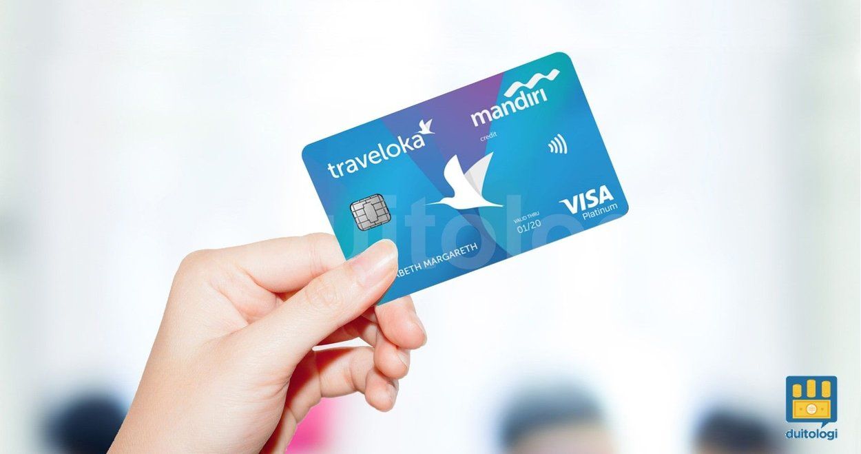 Kartu kredit Traveloka Mandiri Card.
