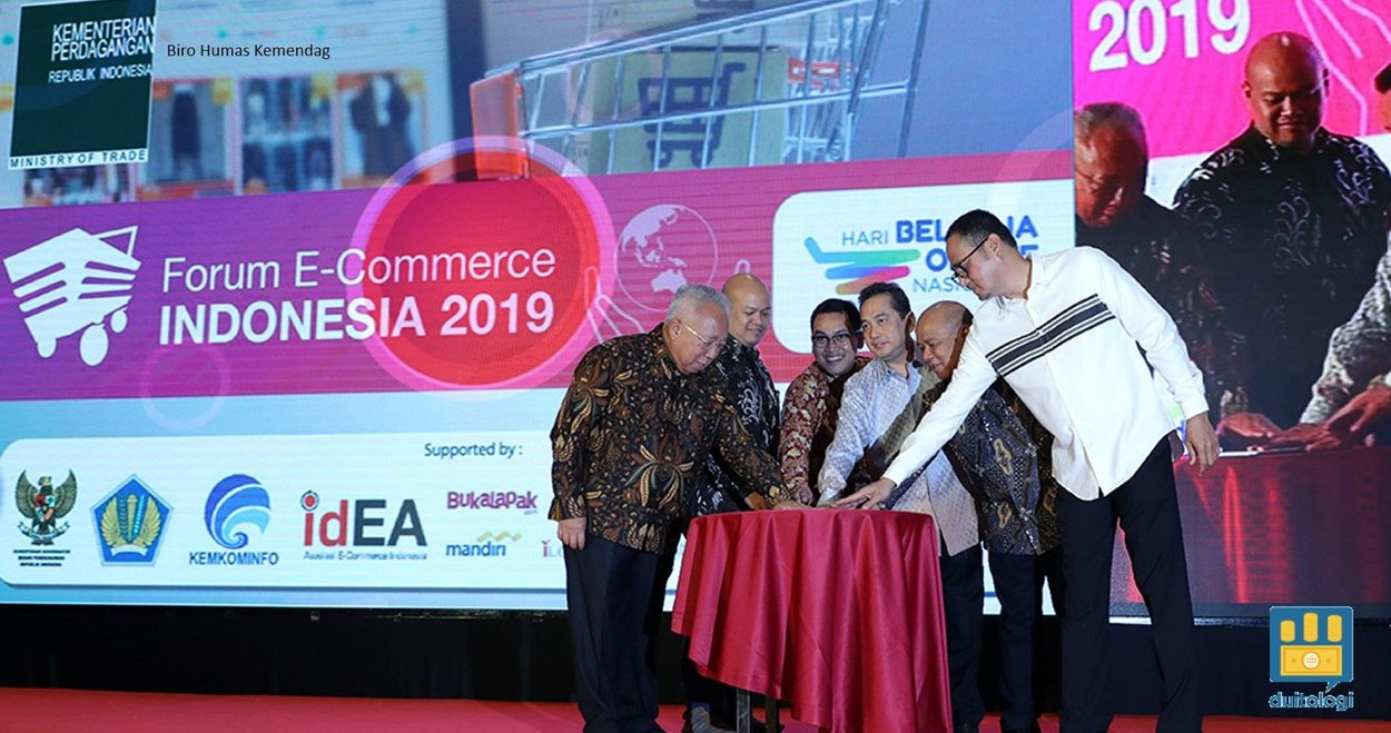 Menteri Perdagangan, Agus Suparmanto membuka Forum E-Commerce Indonesia 2019.